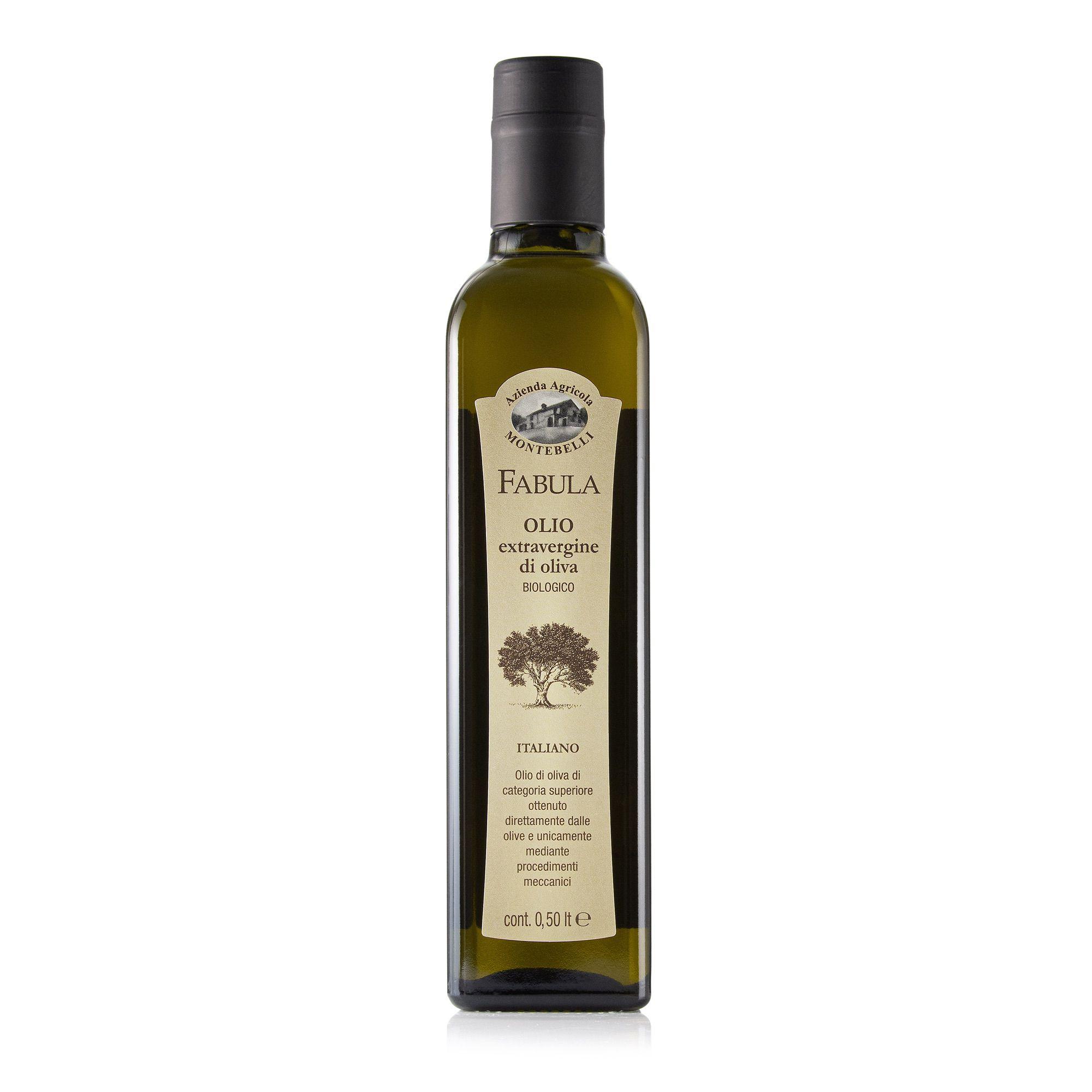 Olio Biologico Extravergine d'oliva in bottiglia 0,5 l Azienda Agricola Biologica Montebelli